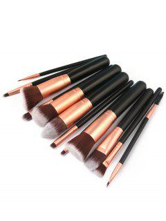 12Pcs Ultra Soft Eyeshadow Eyebrow Foundation Blush Cosmetic Brush Set - Black