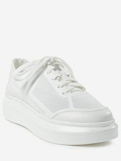 Outdoor Leisure Sport Low Heel Sneakers - White 40
