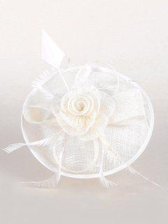 Sombrero Británico Elegante De La Fiesta Floral Del Té - Blanco