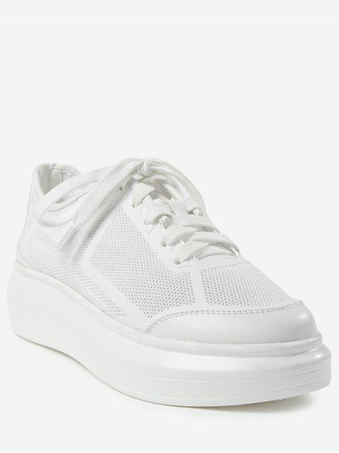 ladies Outdoor Leisure Sport Low Heel Sneakers - WHITE 37 Mobile