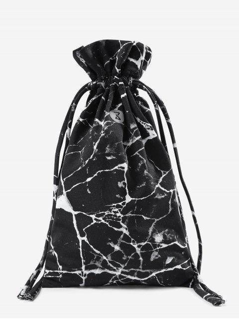 sale Marble Drawstring Sport Storage Bag - BLACK  Mobile