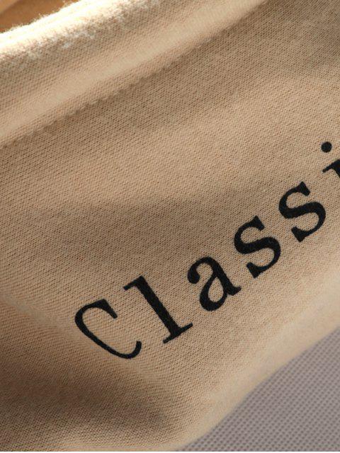 outfit Color-blocking Letter Patch Detail Pouch Pocket Fleece Hoodie - BLACK M Mobile