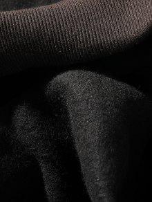 Fleece Bolsa Capucha Color Carta Detalle Negro Block Con Bolsillo Xs Parche Sudadera qzr1xrwnC
