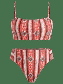 Grandes De Estampado De Conjunto Bikini 1x Multicolor Talle Tallas Con Alto De wzdpZqd