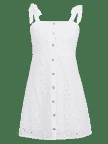 Bot S Hombros Vestido De 243;n Blanco Descubiertos Con awW5Bq0