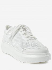 في الهواء الطلق وترفيه رياضة منخفضة الكعب أحذية رياضية - أبيض 36