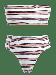 De Honor Rosa Palabra Naranja Rayas L A Bikini De Conjunto BdHqpwp