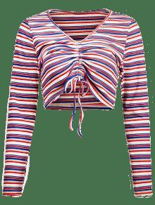 Rayas S Multi Colores De Camiseta A ida Ce tUawqnxBOP