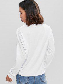 Ce Con 237;da Ca S Delantera Camiseta Blanco De Hombro ida xI4wUY