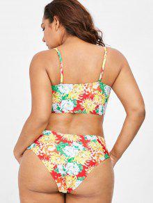 Bikini Multicolor Grande Conjunto Talla De 1x De Floral 5wxUPO8S
