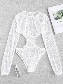 الرباط الهائل قطع الملابس الداخلية تيدي ارتداءها - أبيض M