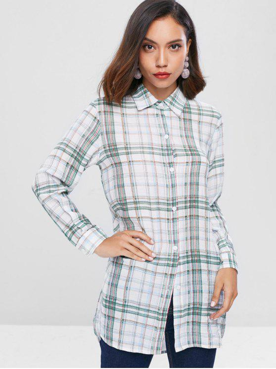 outfit Checkered Long Shirt - MULTI S