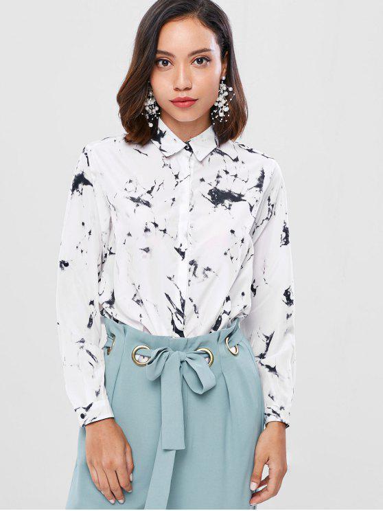 قميص خفيف الوزن رخام خفيف الوزن - أبيض L
