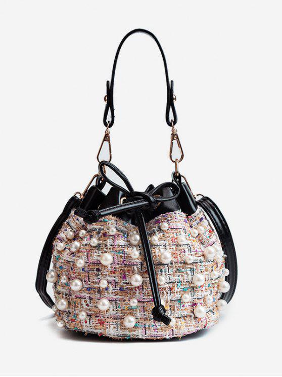 Bolso de hombro con adornos Chic Perlas de imitación - Rosado