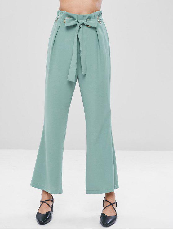 Pantalon Découpé Ceinturé - Cyan Opaque XL