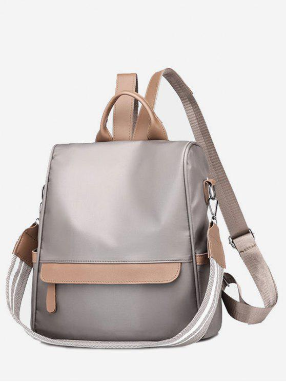womens All Purpose Solid Convertible Travel Backpack - GRAY VERTICAL