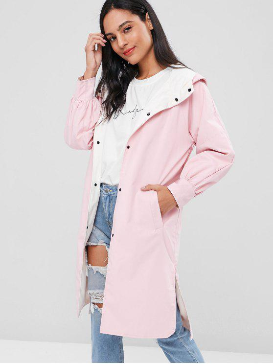ladies Double Faced Reversible Shelter Parka Coat - PINK XL
