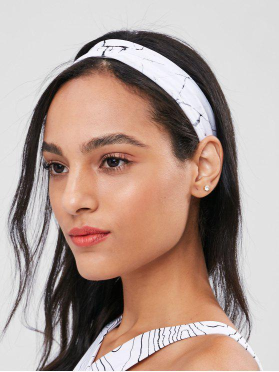 fancy Marble Antislip Sports Headband - WHITE