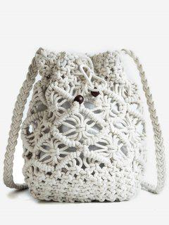 Leisure Vacation Braid Crossbody Bag - White