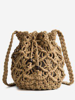 Leisure Vacation Braid Crossbody Bag - Brown