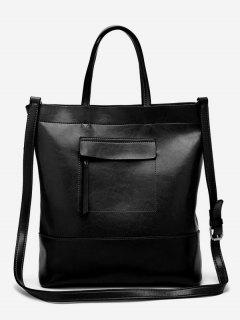 Vintage Minimalist Going Out Tote Bag - Black Vertical
