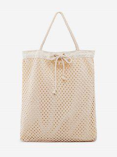 Chic Rope Strap Beach Shoulder Bag - Light Khaki Vertical