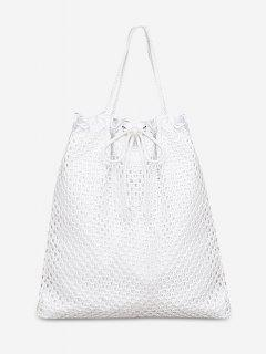 Chic Rope Strap Beach Shoulder Bag - White Vertical