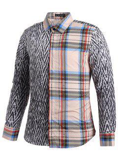 Tartan Und Tweeds Print Shirt - Grauer Wolf S