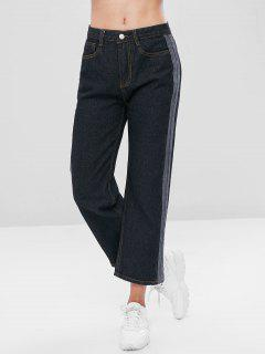 Striped Straight Jeans - Dark Slate Grey M