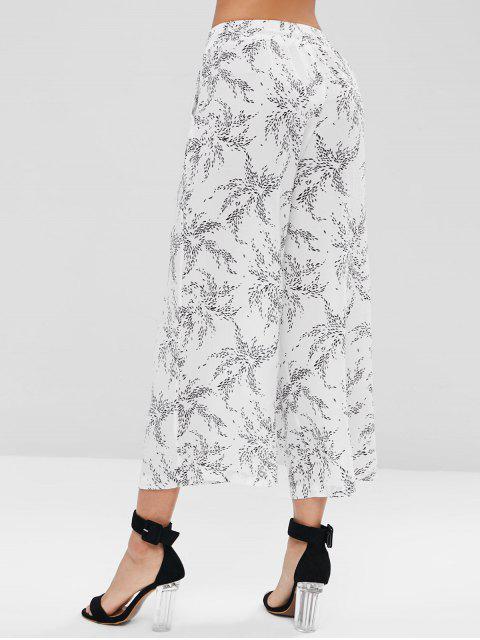outfit Drawstring Wide Leg Pants - WHITE L Mobile