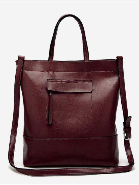 Vintage minimalistische ausgehende Taschen-Tasche - Kaffee Vertikal Mobile
