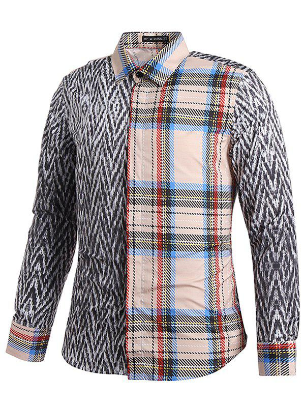 Tartan and Tweeds Print Shirt, Gray wolf