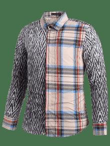 Camisa De L Con Y Tart 225;n Estampado Lobo Tweed Gris RqOAWq