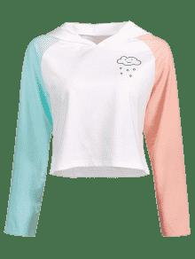 Graphic Sudadera De Block Blanco Capucha Con S Color EEqZSUw