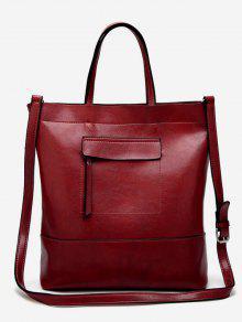 حقيبة صغيرة تبرز من الخارج - أحمر عمودي