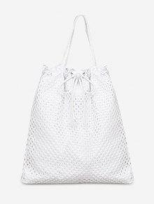 حقيبة الكتف على الكتف - أبيض عمودي