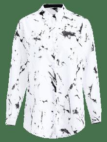 Camisa Estampada Ligera Estampada En En Camisa Ligera M Xtq4a