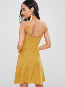 Camisero Vestido De M Twist Brillante Punto Amarillo qA7UqaR1Z