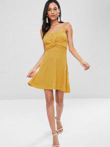 Punto Camisero Vestido Twist Amarillo M De Brillante 8EABAqZw