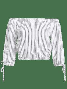 Off Blanco Stripes Top Shoulder S Tied 5HAZB
