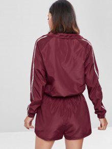 Tinto And M Set Shorts Zip Jacket Graphic Up Vino Cxn0qO