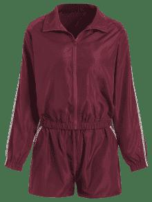 Zip Shorts Vino M Set And Graphic Up Tinto Jacket qwzCUTBrq
