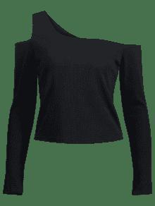 Acanalada Cuello M Negro Vuelto Con Camiseta xH0aFYwqw