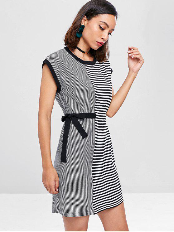 outfit Striped Tunic Dress - BLACK ONE SIZE