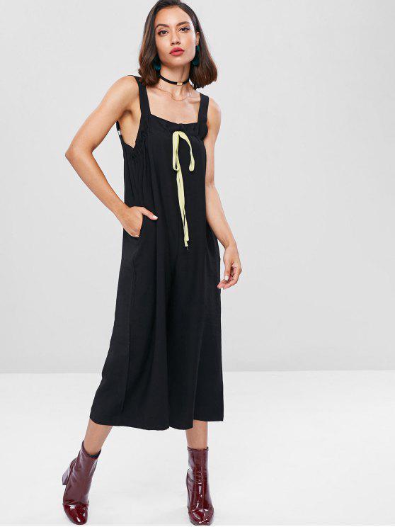 84b81e7bfdd3 59% OFF  2019 Square Neck Wide Leg Jumpsuit In BLACK
