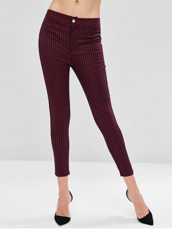 hot Checked Ankle Pants - MULTI M