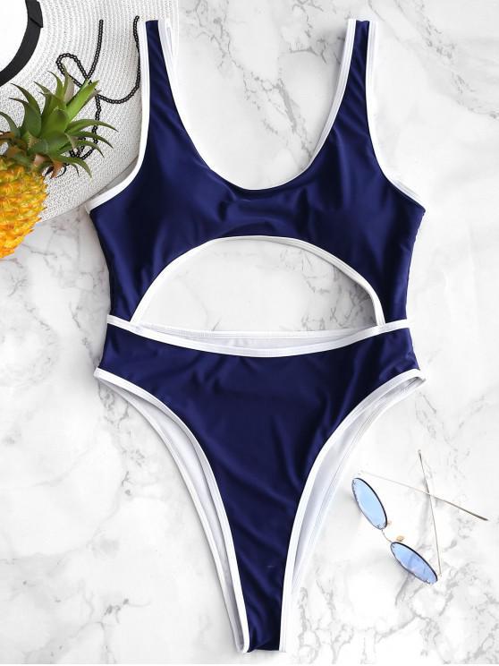 Costume Da Bagno Di ZAFUL Con Taglio Alto - Blu Scura Denim  M