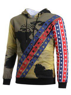 Vintage Stars Stripes With Map Hoodie - Multi-c 2xl