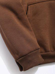 Sudadera Polar Con Caf Pouch Pocket Capucha Solid twxqCp08t