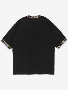 Negro Cinta Parche Con M Camiseta 225;stica El Haqxw4WST